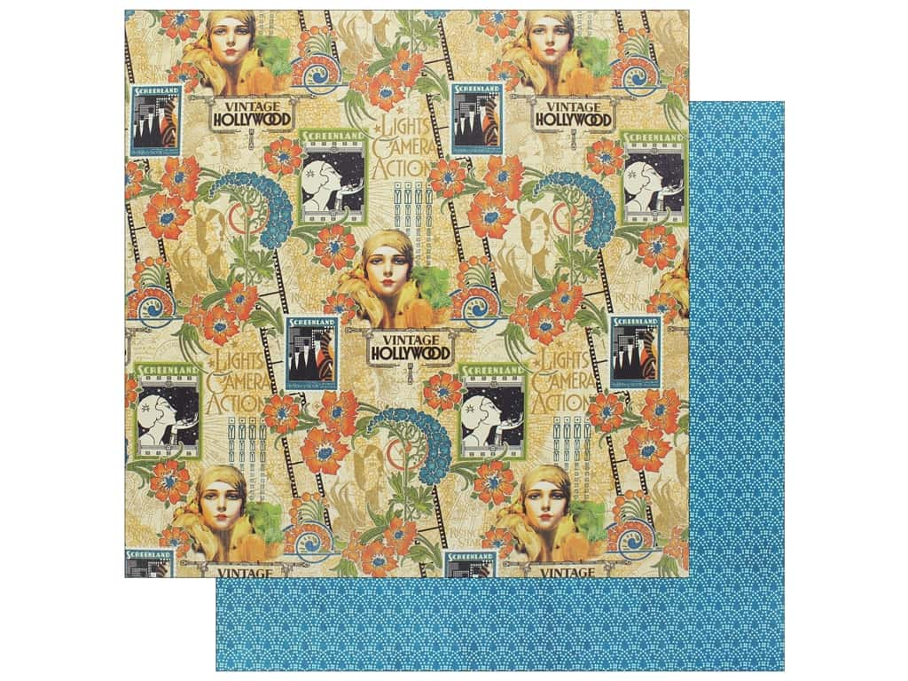 """Graphic 45 Collection Vintage Hollywood Paper 12""""x 12"""" Dazzling Diva (25 pieces)"""