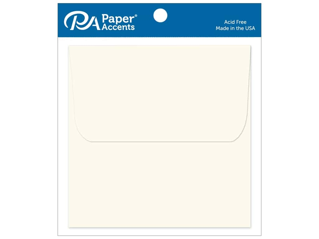 Paper Accents 5 1/2 x 5 1/2 in. Envelopes 8 pc. #119 Cream
