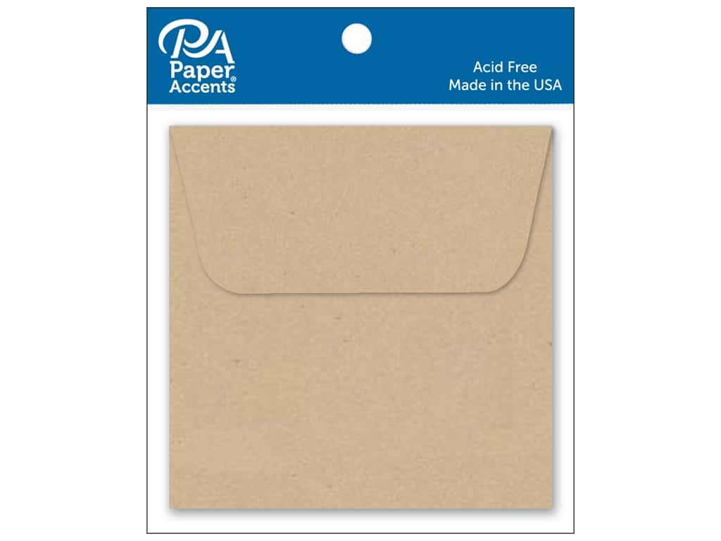 Paper Accents 2 1/4 x 2 1/4 in. Envelopes 15 pc. Kraft
