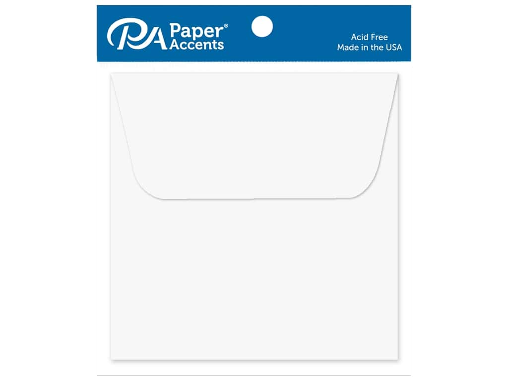 Paper Accents 3 x 3 in. Envelopes 10 pc. #128 White