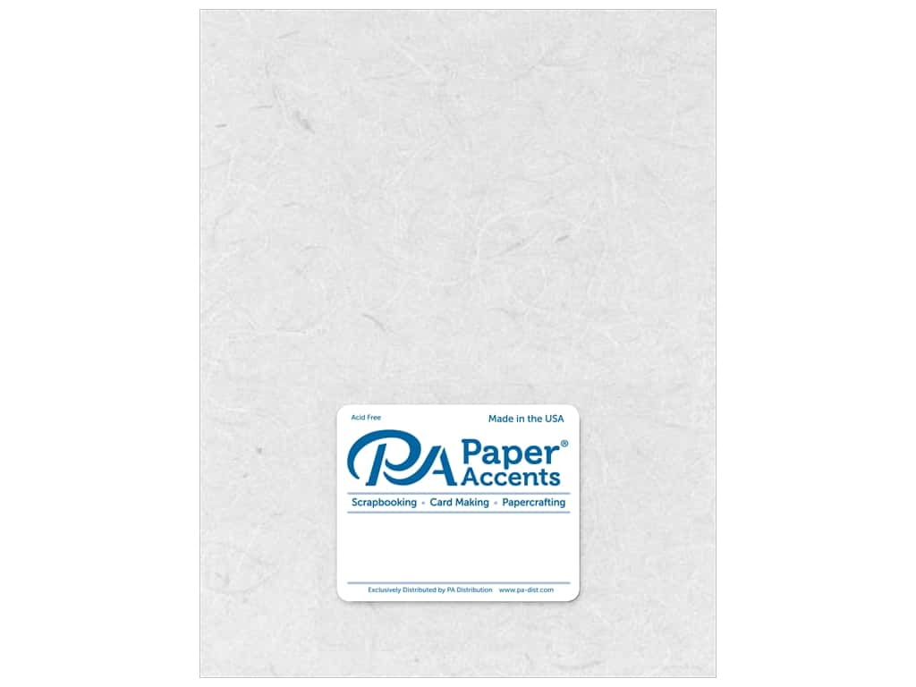 Paper Accent Mulberry Paper 8 1/2 x 11 in. White 5 pc.