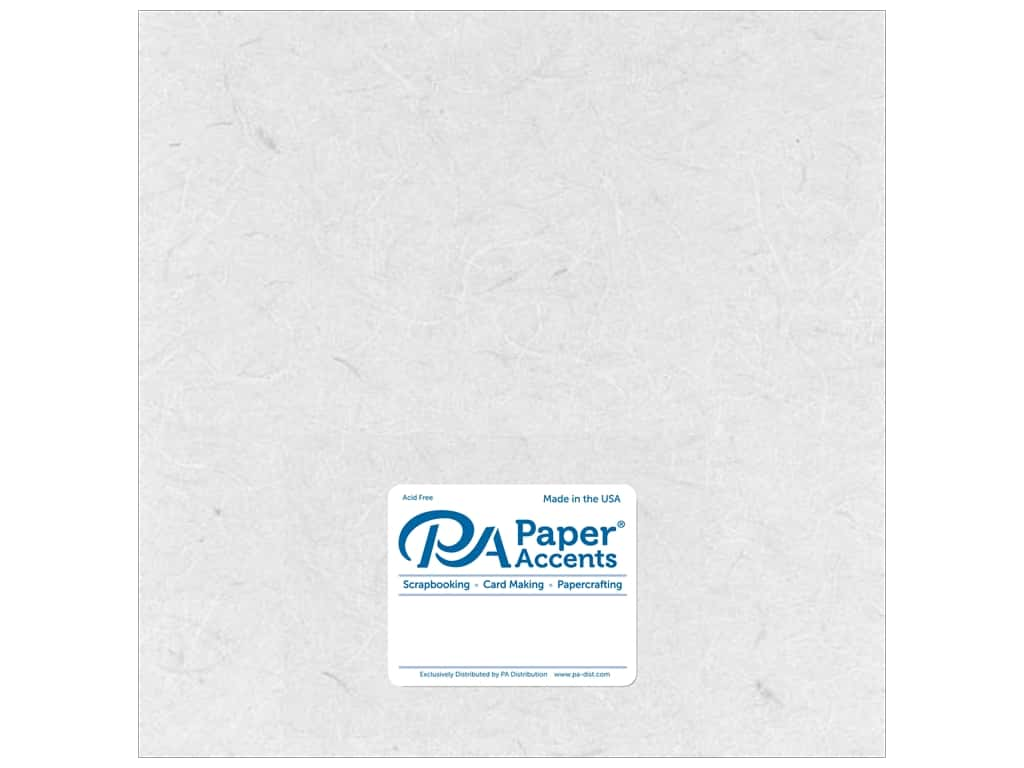 Paper Accent Mulberry Paper 12 x 12 in. White 25 pc.