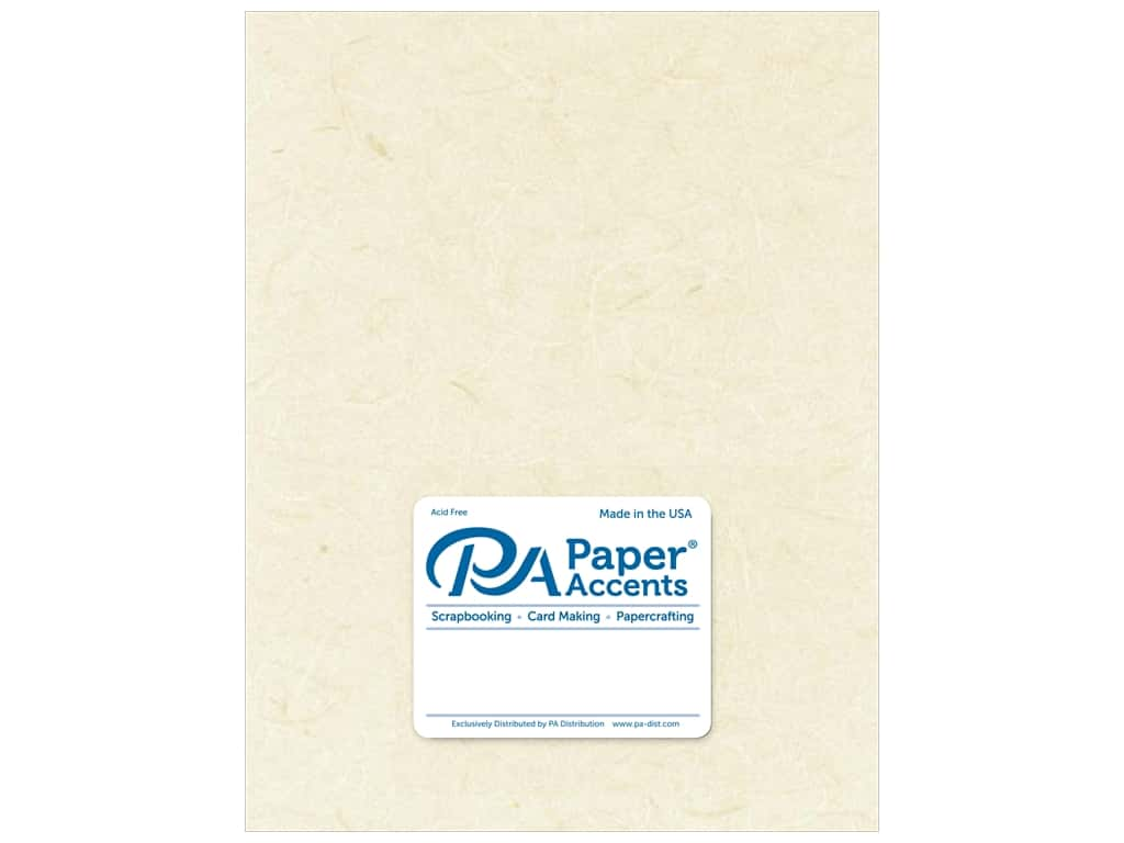 Paper Accent Mulberry Paper 8 1/2 x 11 in. Natural 25 pc.