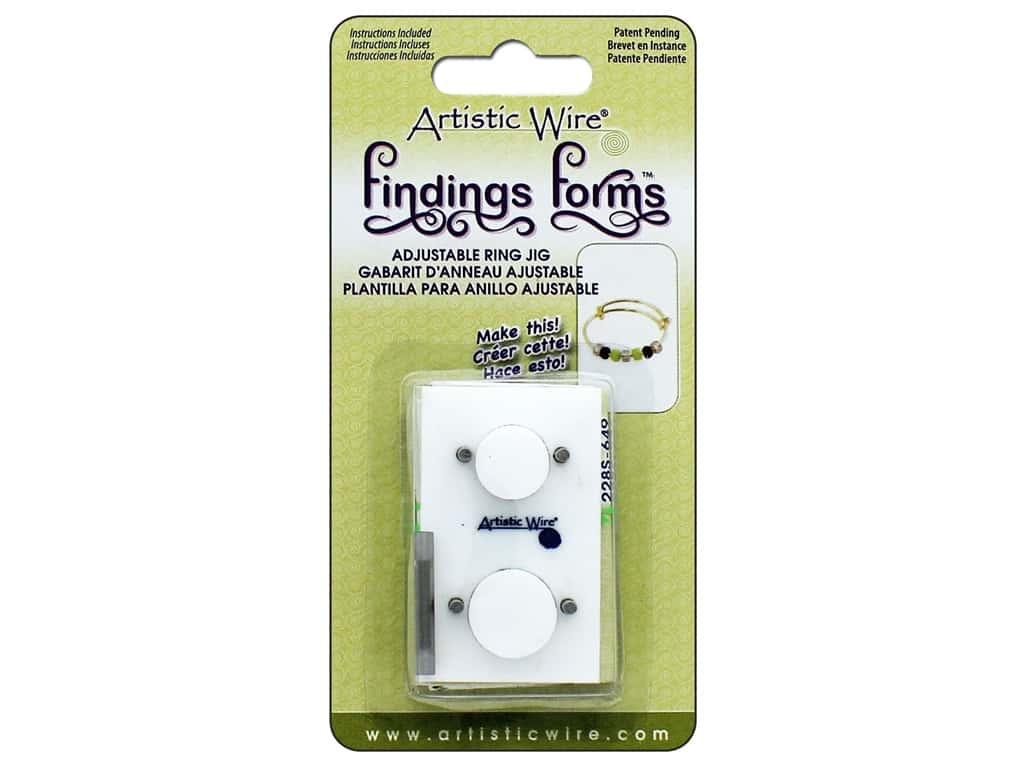 Artistic Wire Tool Findings Form Adjustable Ring Jig