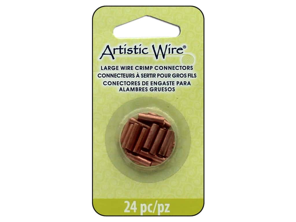 Artistic Wire Crimp Connector Large Wire Assorted Sizes Copper 24 pc