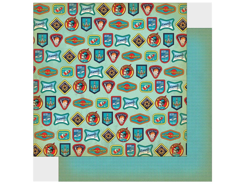 """Carta Bella Collection Space Academy Paper 12""""x 12"""" Space Badges (25 pieces)"""
