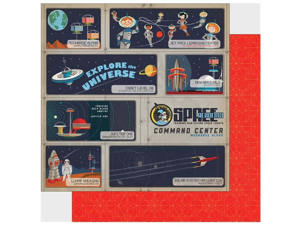 """Carta Bella Collection Space Academy Paper 12""""x 12"""" Cadet Training (25 pieces)"""