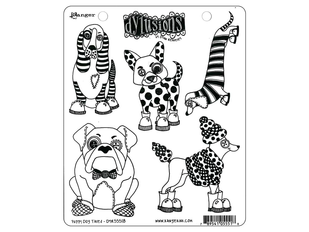 Ranger Stamp Dylusions Puppy Dog Tales