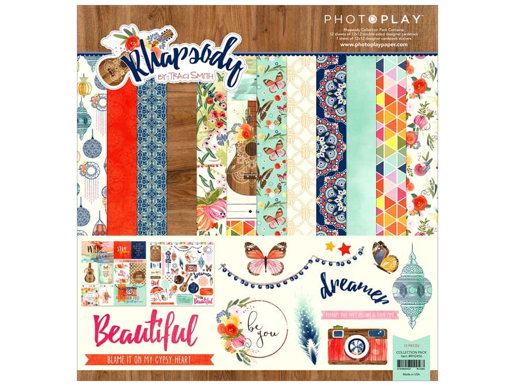 """Photo Play Collection Rhapsody Collection Pack 12""""x 12 """""""
