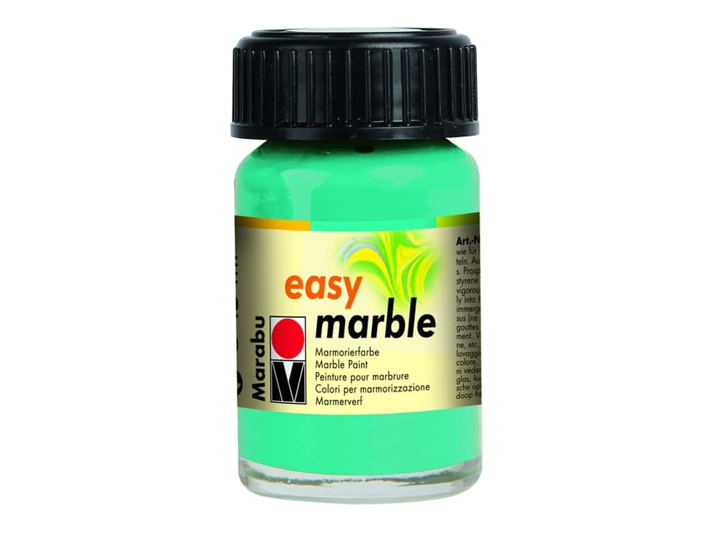 Marabu Easy Marble Paint .5oz Aqua Green