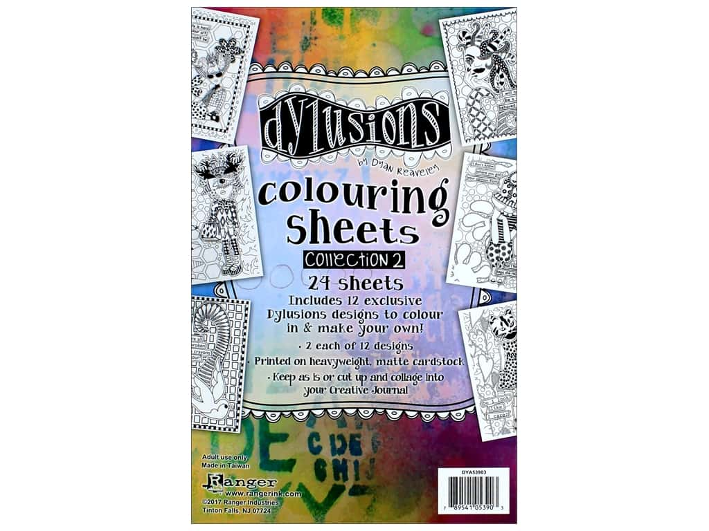 Ranger Dylusions Colouring Sheets - Collection 2