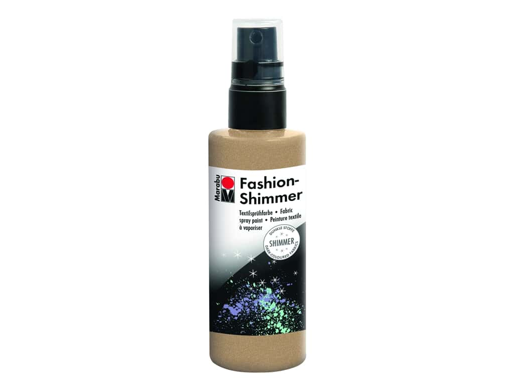 Marabu Fashion Shimmer Fabric Spray Paint 3.4 oz. Gold