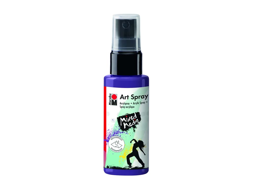 Marabu Mixed Media Art Spray 1.7 oz. Plum