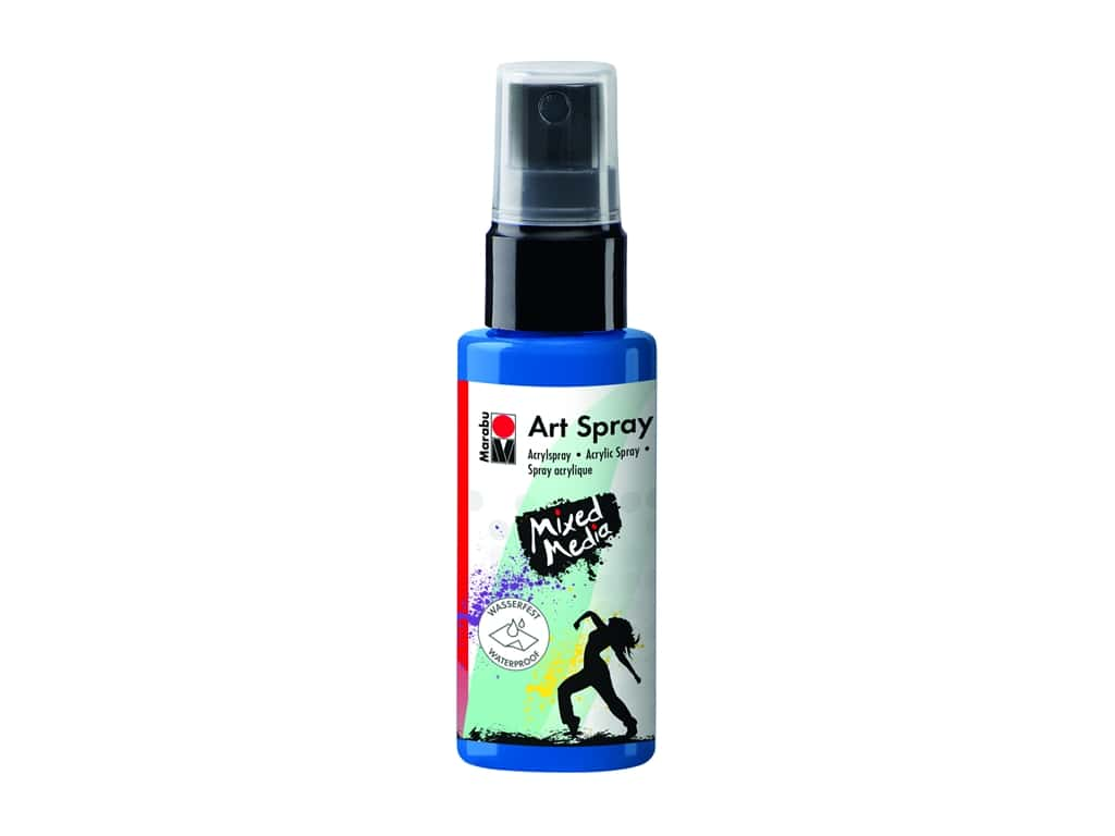 Marabu Mixed Media Art Spray 1.7 oz. Gentian