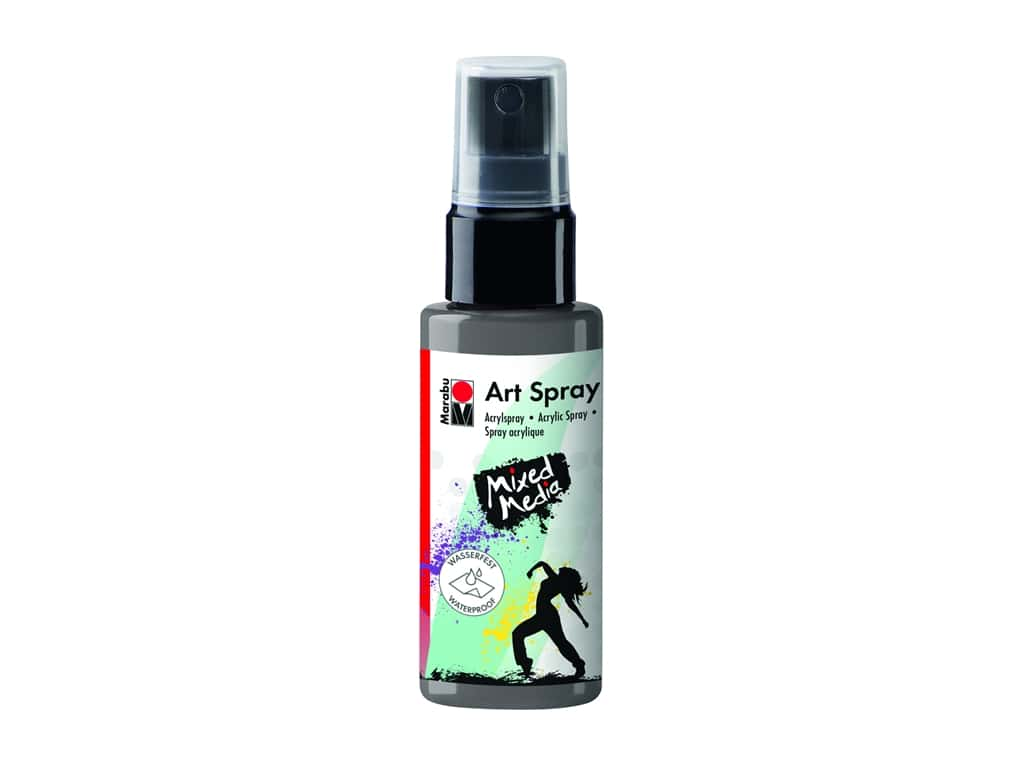 Marabu Mixed Media Art Spray 1.7 oz. Grey