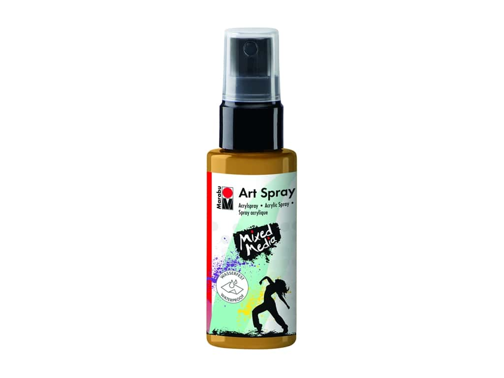 Marabu Mixed Media Art Spray 1.7 oz. Gold