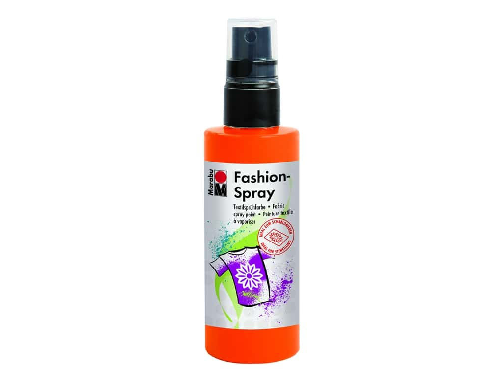Marabu Fashion Fabric Spray Paint 3.4 oz. Red Orange