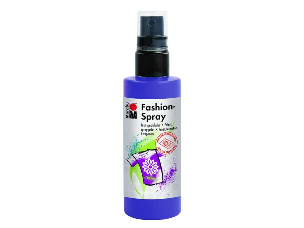 Marabu Fashion Fabric Spray Paint 3.4 oz. Plum