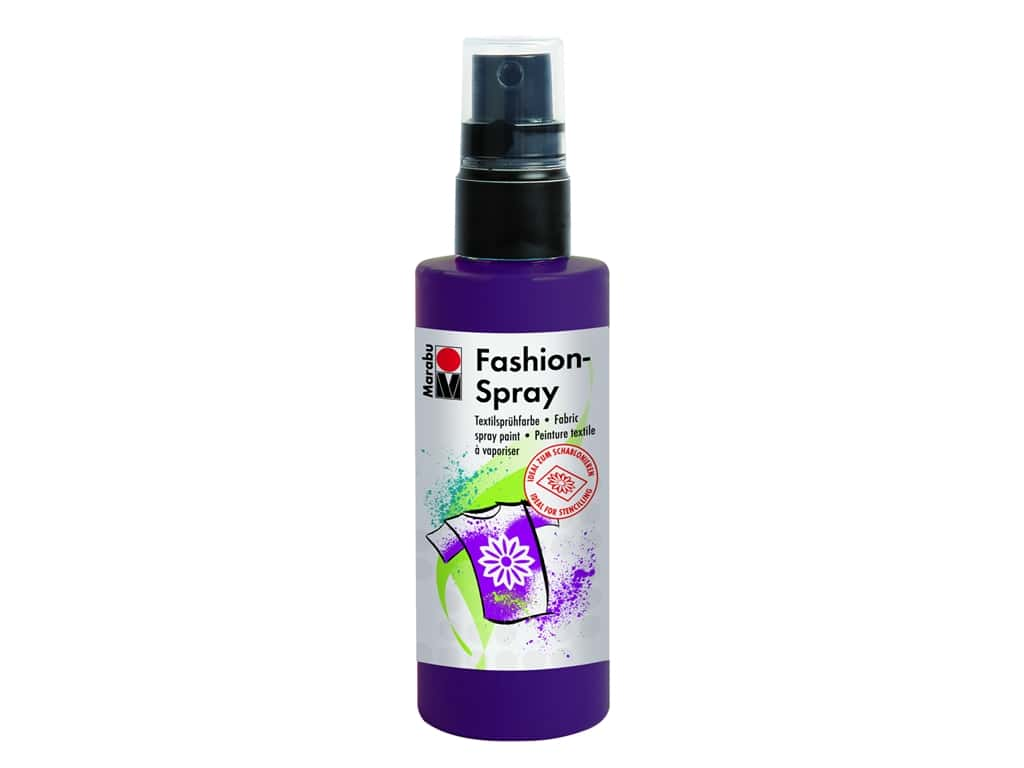 Marabu Fashion Fabric Spray Paint 3.4 oz. Aubergine
