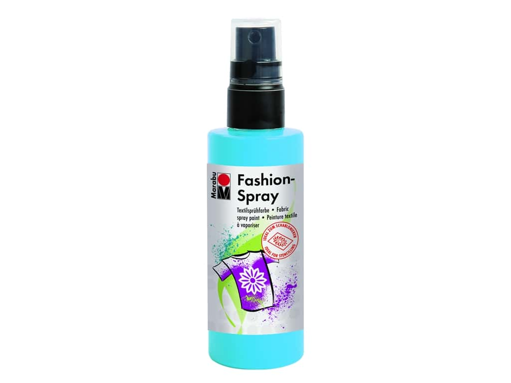 Marabu Fashion Fabric Spray Paint 3.4 oz. Sky Blue