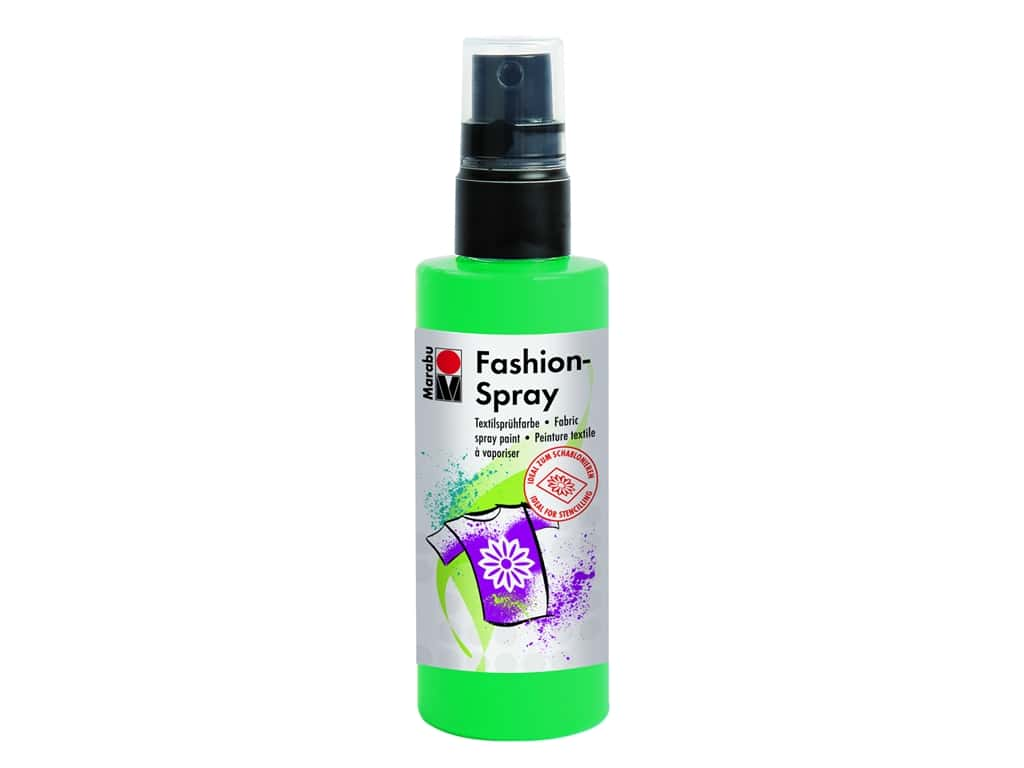 Marabu Fashion Fabric Spray Paint 3.4 oz. Mint