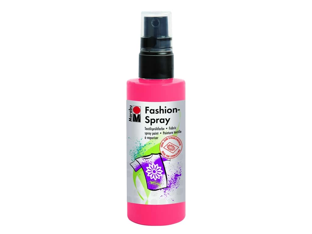 Marabu Fashion Fabric Spray Paint 3.4 oz. Flamingo