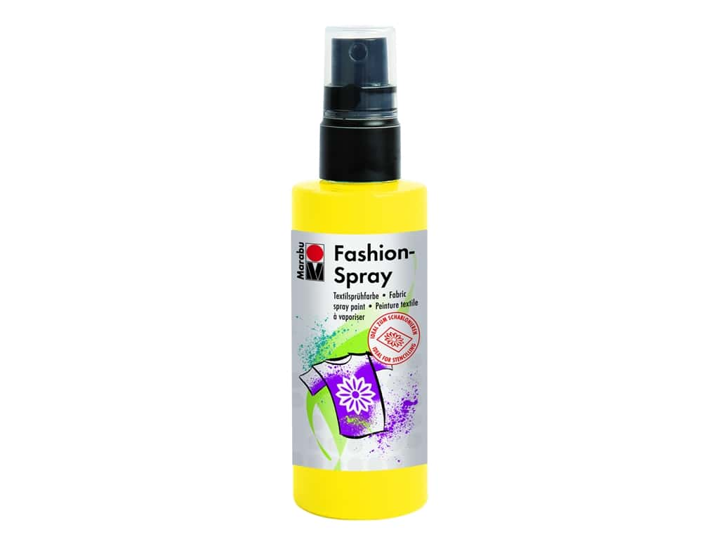 Marabu Fashion Fabric Spray Paint 3.4 oz. Sunshine Yellow