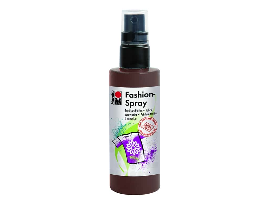 Marabu Fashion Fabric Spray Paint 3.4 oz. Cocoa