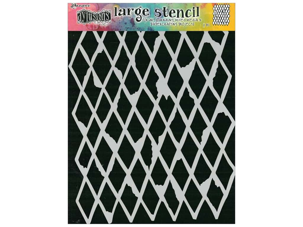 Ranger Stencil Dylusions Large Diamond In the Rough
