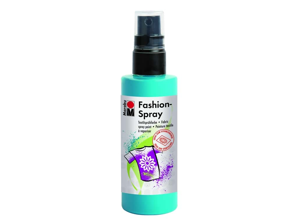 Marabu Fashion Fabric Spray Paint 3.4 oz. Caribbean