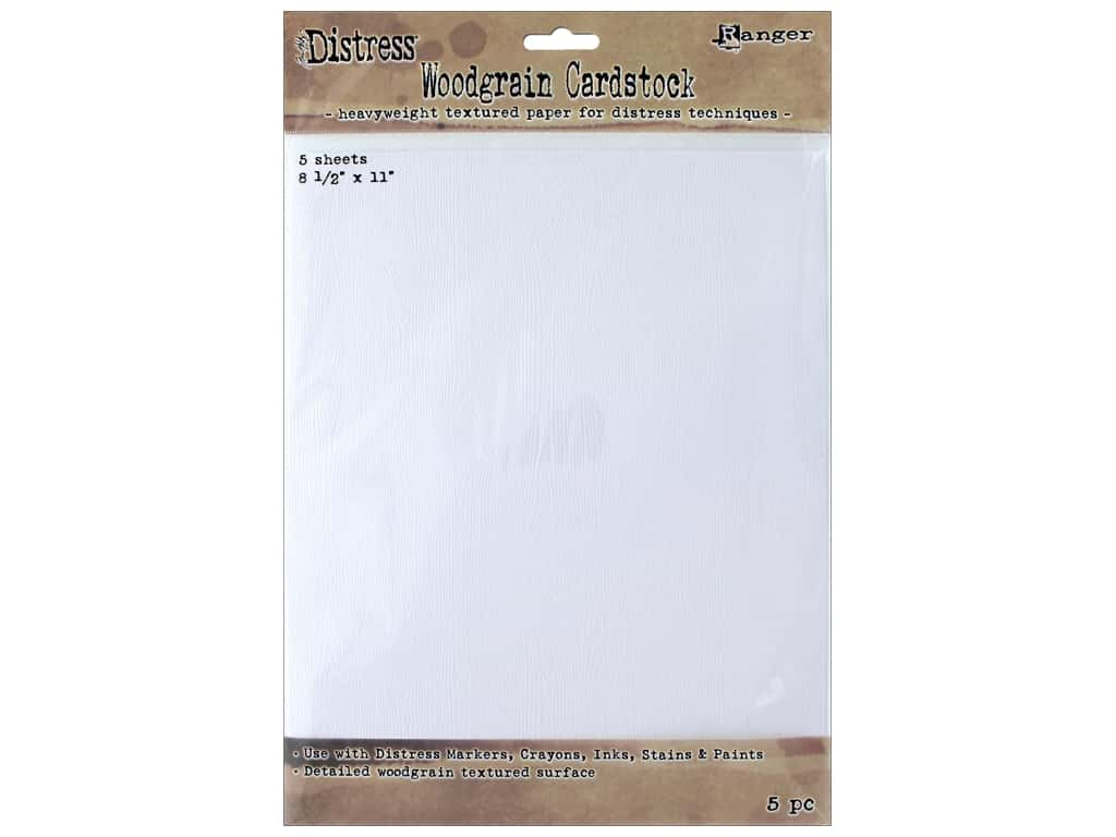 Ranger Tim Holtz Distress Woodgrain Cardstock 8 1/2 x 11 in. 5 pc.