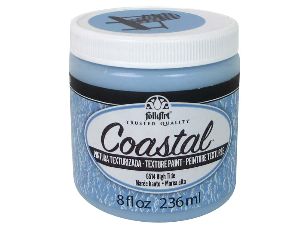 Plaid Folkart Coastal Texture Paint 8 oz. High Tide