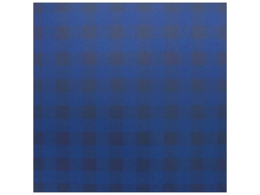 Bazzill Cardstock 12 x 12 in. Plaid Blueberry Sour (25 pieces)