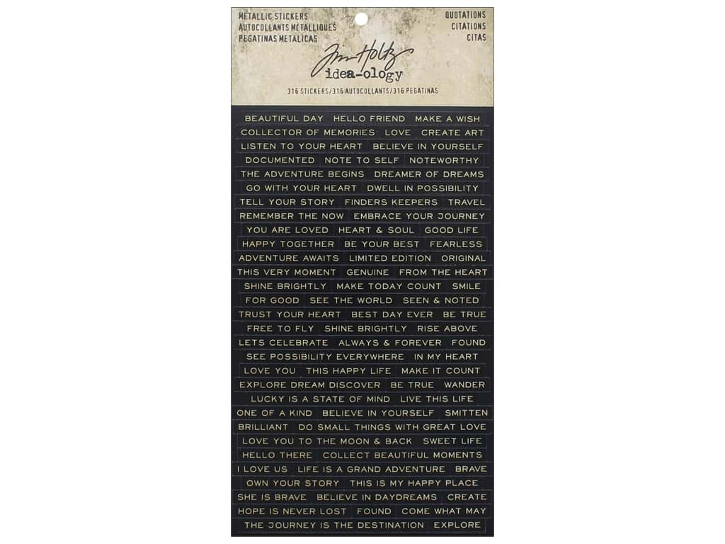 Tim Holtz Idea-ology Sticker Metallic Quotations