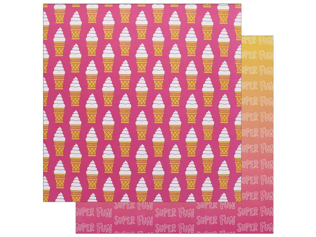 """AMC Collection On A Whim Amy Tangerine Paper 12""""x 12"""" Super Fun (25 pieces)"""