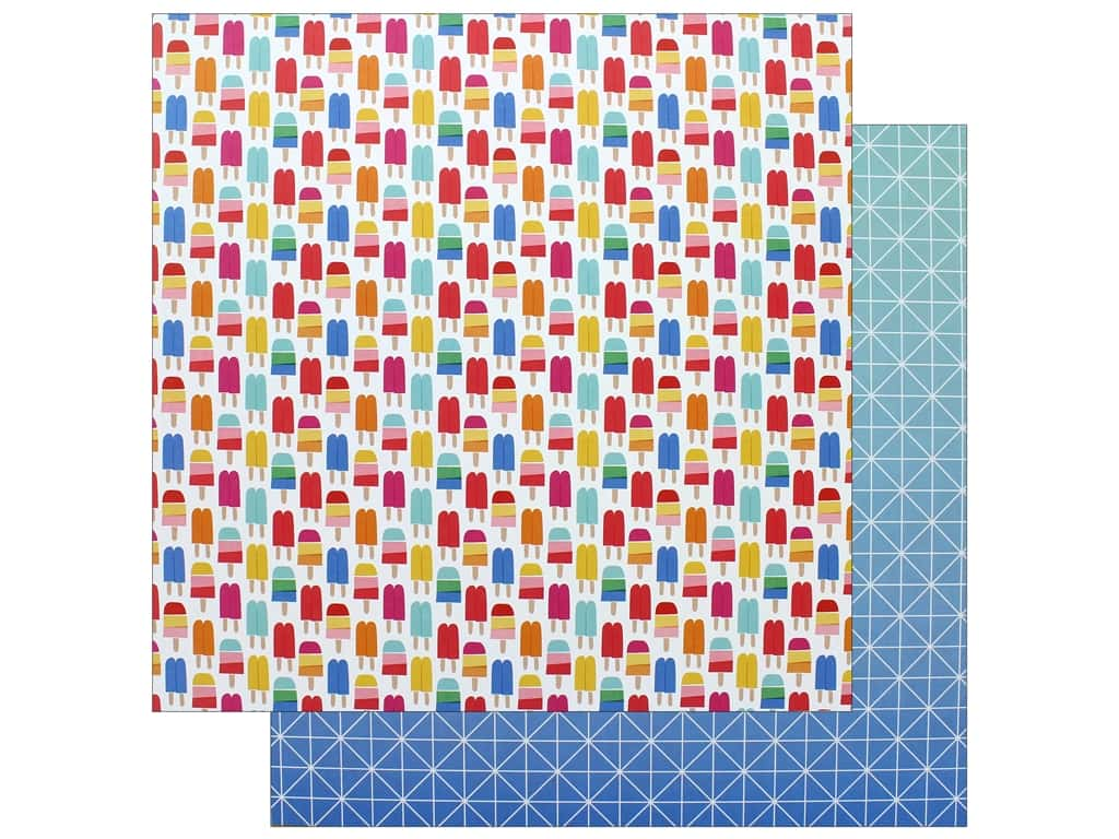 """AMC Collection On A Whim Amy Tangerine Paper 12""""x 12"""" Keep Your Cool (25 pieces)"""