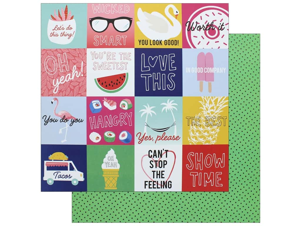 """AMC Collection On A Whim Amy Tangerine Paper 12""""x 12"""" In Good Company (25 pieces)"""