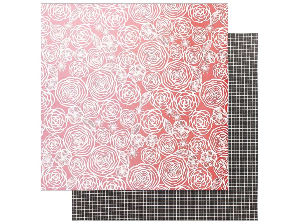 """AMC Collection On A Whim Amy Tangerine Paper 12""""x 12"""" Think Pink (25 pieces)"""