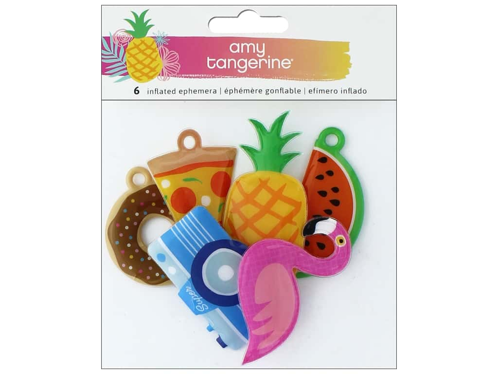 AMC Collection On A Whim Amy Tangerine Ephemera Inflated