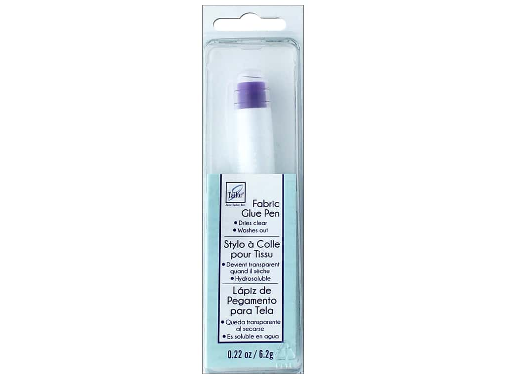 June Tailor Fabric Glue Pen Wash Out .22 oz Clear