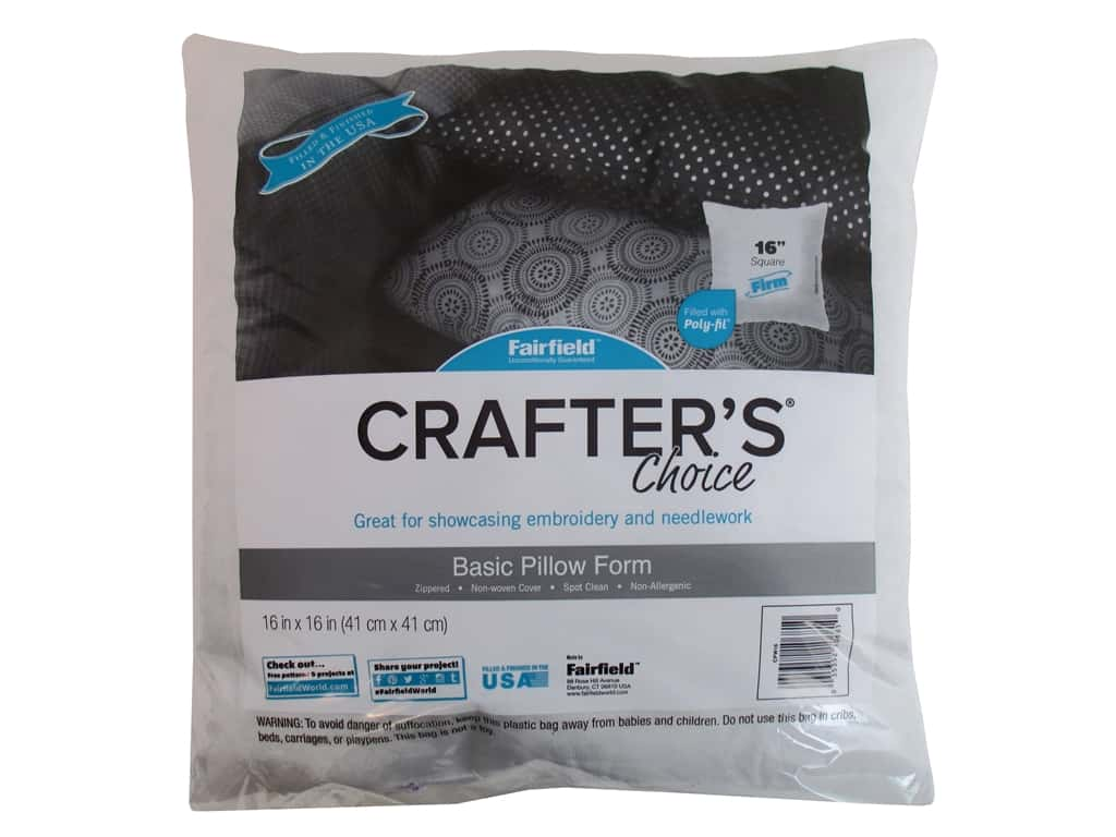 "Fairfield Pillow Form Crafters Choice 16"" Square"