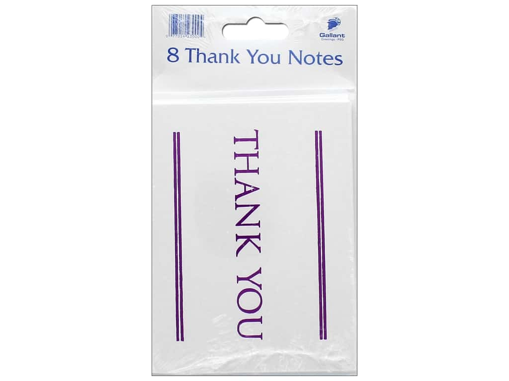 gallant greetings thank you card magenta foil1 8ct createforless. Black Bedroom Furniture Sets. Home Design Ideas