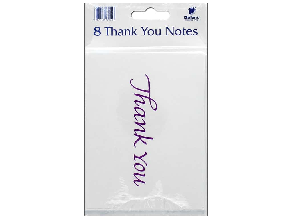 Gallant Greetings Thank You Card Magenta Foil 2 8 ct