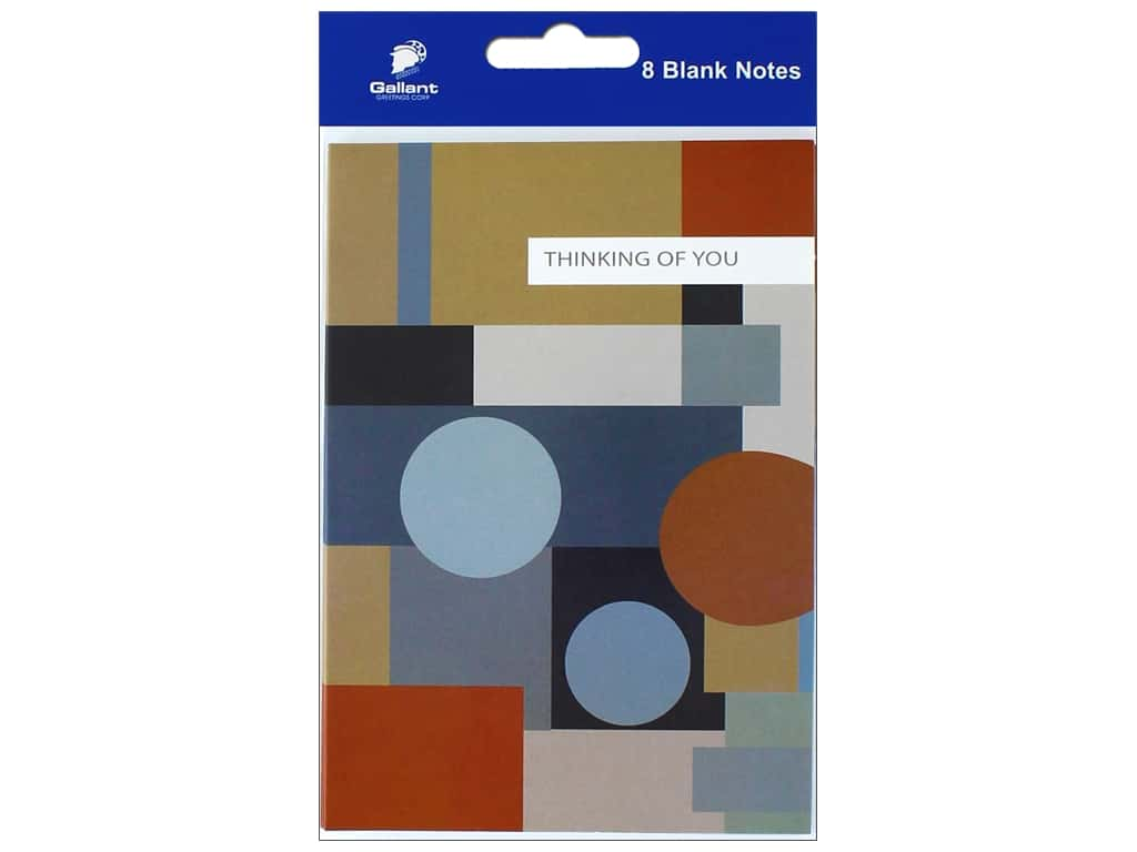 Gallant Greetings Thinking Of You Card Geometric 8 ct