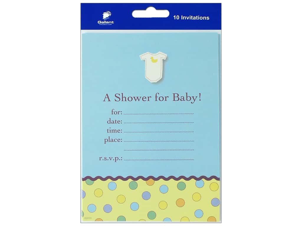 Gallant Greetings Baby Shower Invitation 4 10 ct