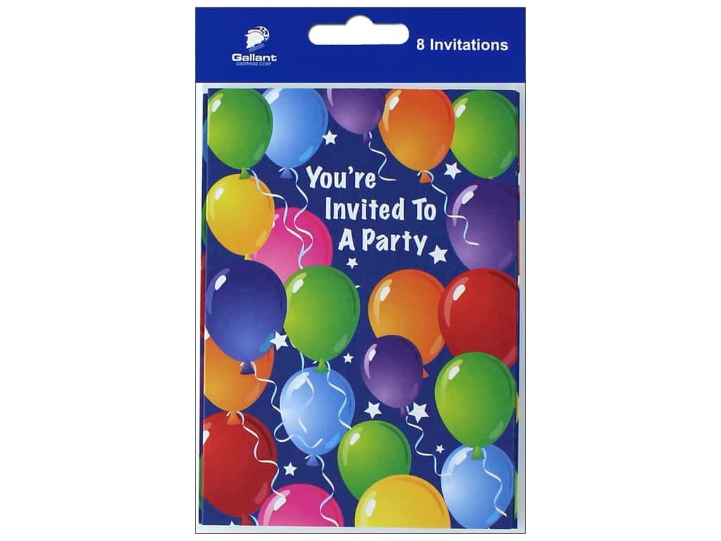 Gallant Greetings General Party Invitation 6 8 ct