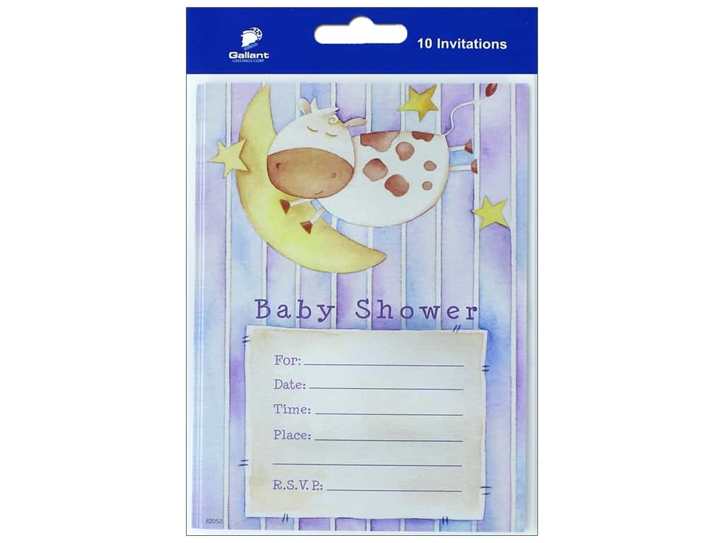 Gallant Greetings Baby Shower Invitation 2 10 ct