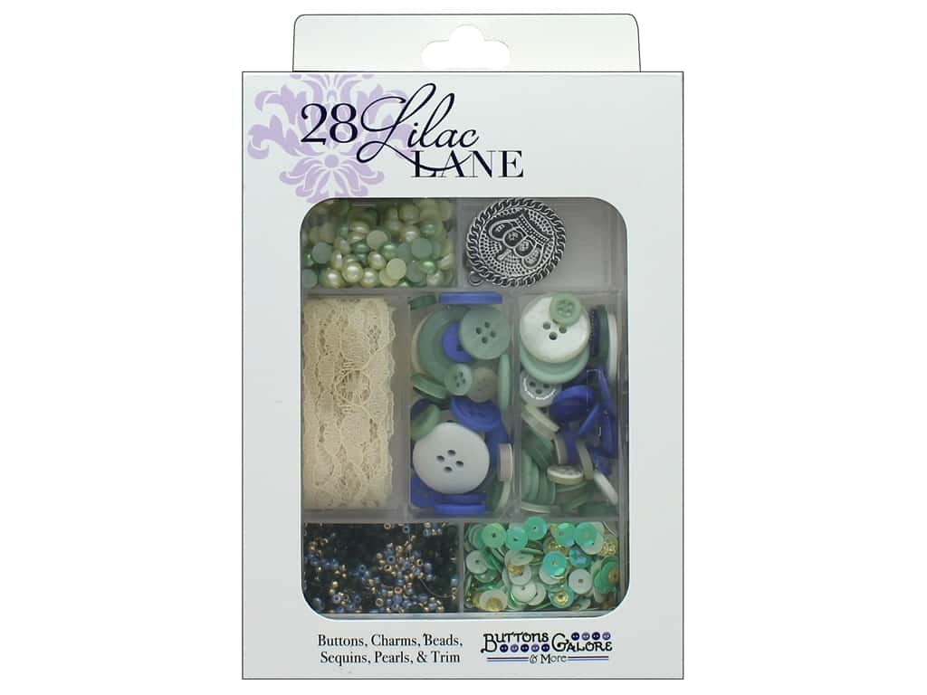 Buttons Galore 28 Lilac Lane Embellishment Kit Tea Time