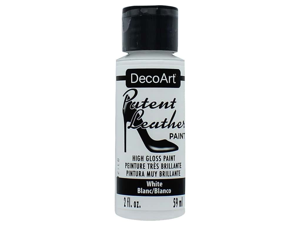 Decoart Patent Leather Paint 2 oz. White