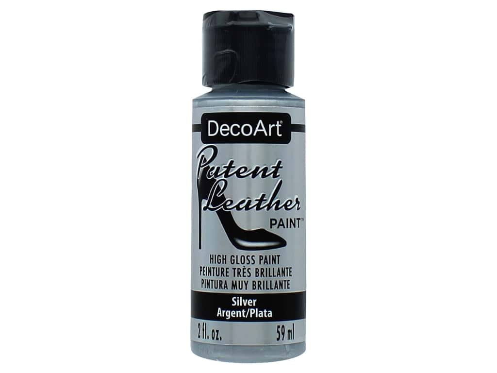 Decoart Patent Leather Paint 2 oz. Silver